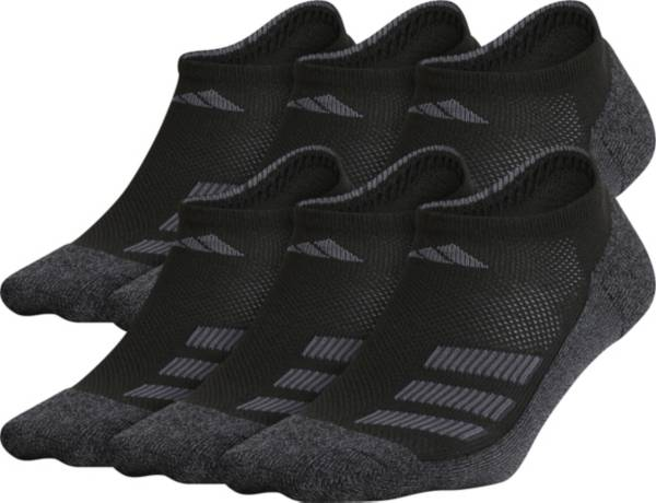 adidas Youth Cushioned Angle Stripe No-Show Socks – 6 Pack product image