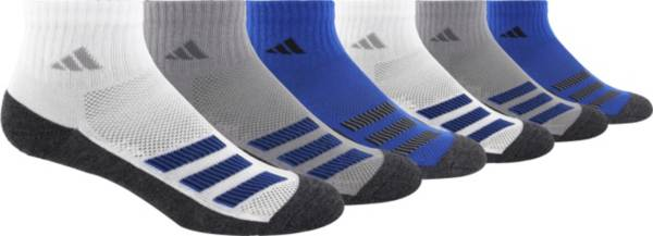 adidas Youth Cushioned Angle Stripe Quarter Socks – 6 Pack product image