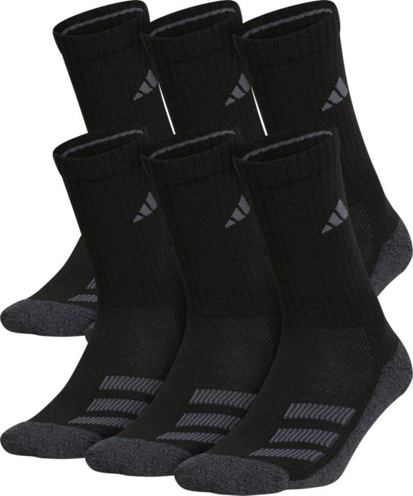 adidas Youth Cushioned Angle Stripe Crew Socks - 6 Pack product image