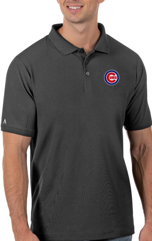 Antigua Men's Chicago Cubs Gray Legacy Polo product image