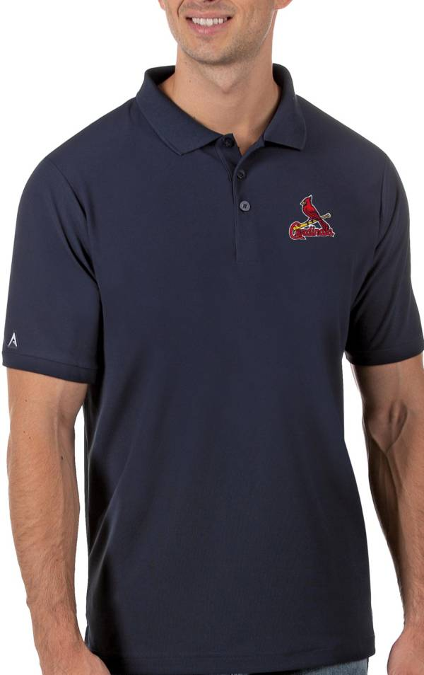 Antigua Men's St. Louis Cardinals Navy Legacy Polo product image