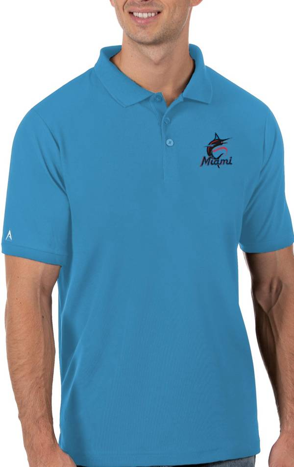 Antigua Men's Miami Marlins Blue Legacy Polo product image
