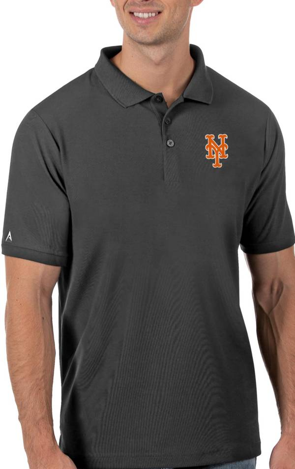 Antigua Men's New York Mets Gray Legacy Polo product image