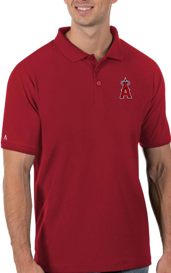Antigua Men's Los Angeles Angels Red Legacy Polo product image