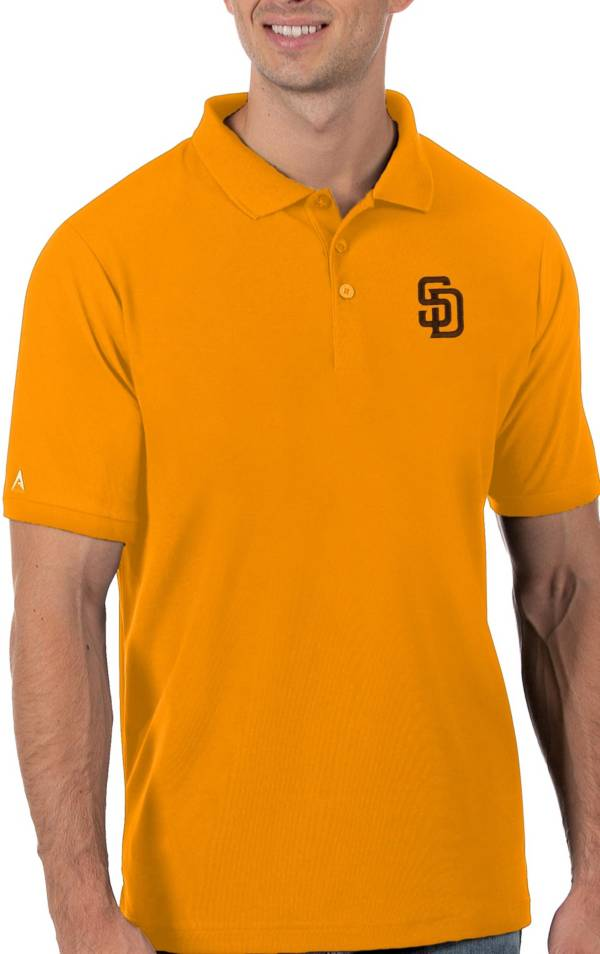Antigua Men's San Diego Padres Gold Legacy Polo product image