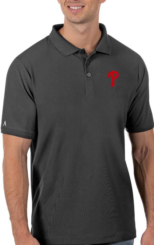 Antigua Men's Philadelphia Phillies Gray Legacy Polo product image