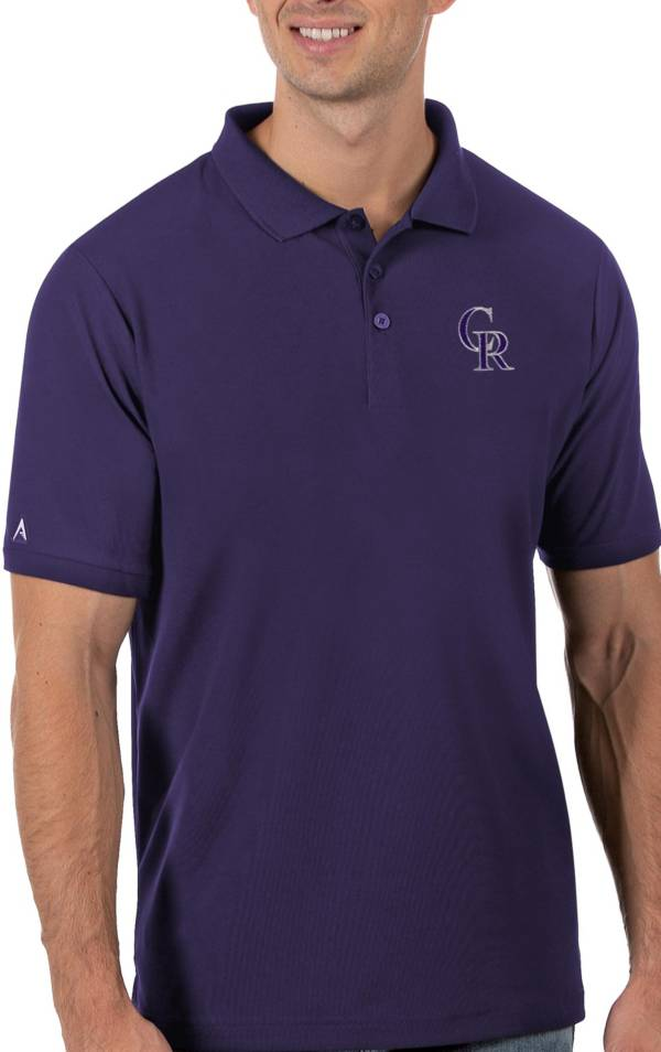 Antigua Men's Colorado Rockies Purple Legacy Polo product image