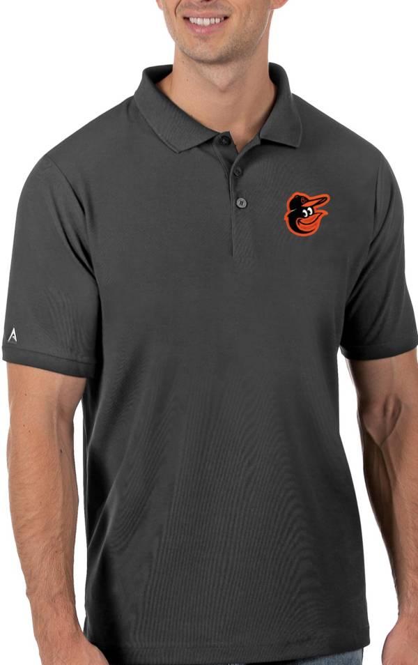 Antigua Men's Baltimore Orioles Gray Legacy Polo product image