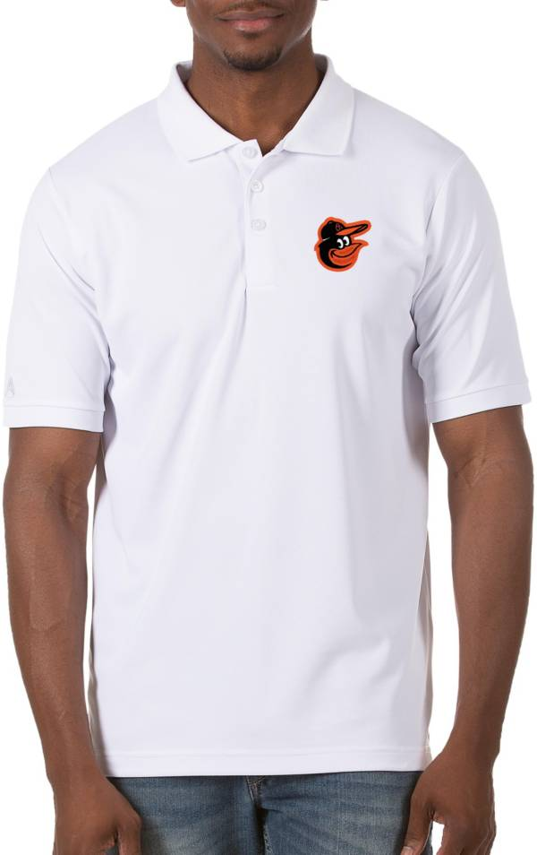 Antigua Men's Baltimore Orioles White Legacy Polo product image
