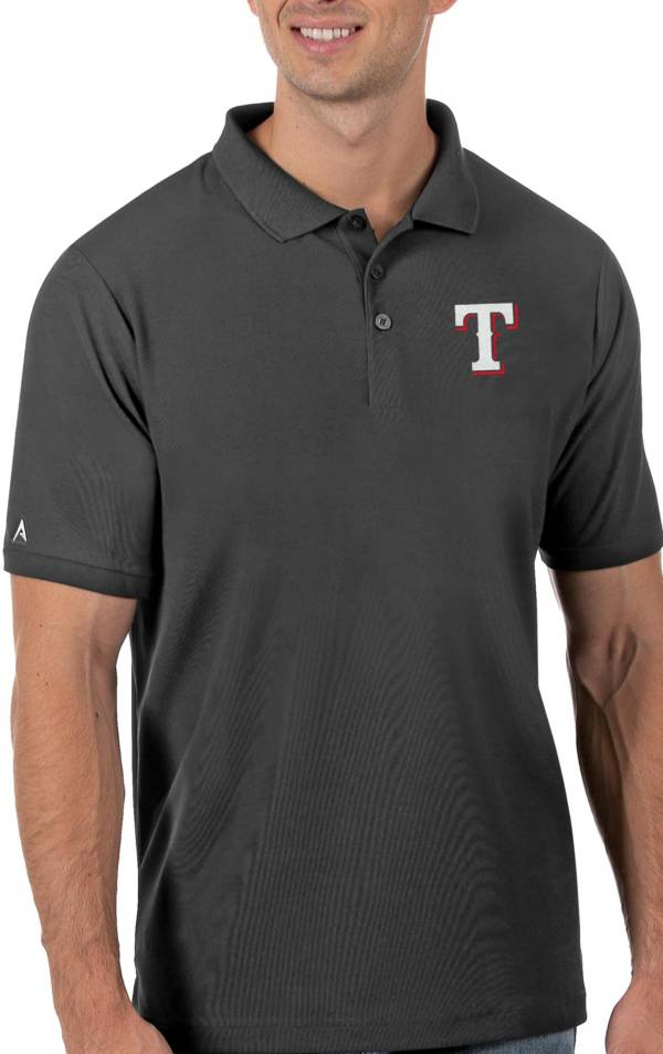 Antigua Men's Texas Rangers Gray Legacy Polo product image