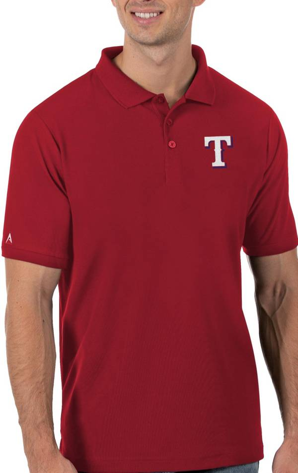 Antigua Men's Texas Rangers Red Legacy Polo product image