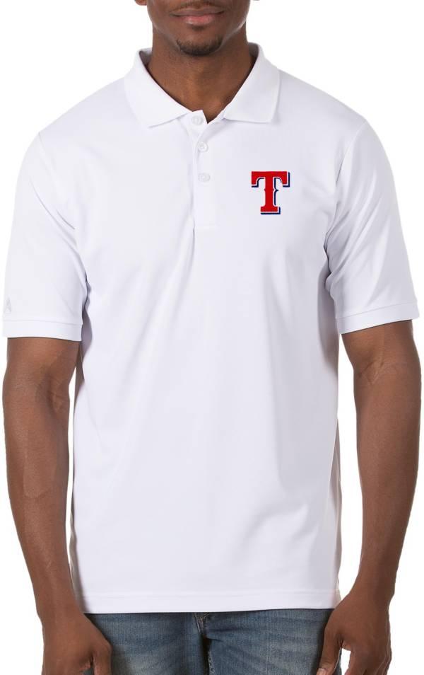 Antigua Men's Texas Rangers White Legacy Polo product image