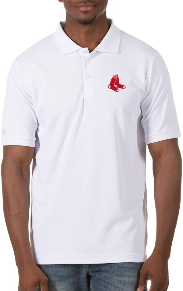Antigua Men's Boston Red Sox White Legacy Polo product image
