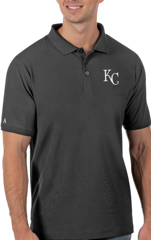Antigua Men's Kansas City Royals Gray Legacy Polo product image