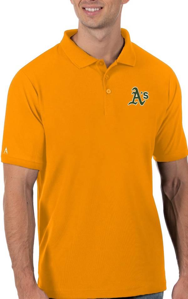 Antigua Men's Oakland Athletics Gold Legacy Polo product image
