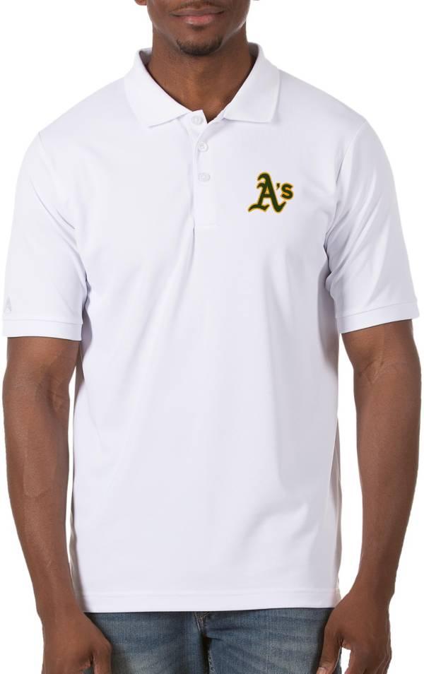 Antigua Men's Oakland Athletics White Legacy Polo product image