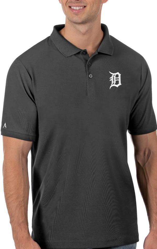 Antigua Men's Detroit Tigers Gray Legacy Polo product image
