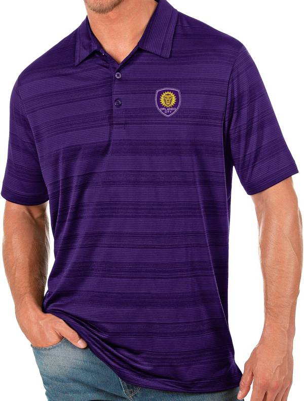 Antigua Men's Orlando City Purple Compass Polo product image