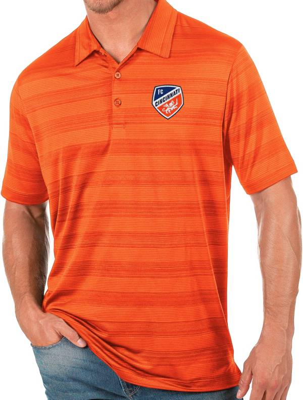 Antigua Men's FC Cincinnati Orange Compass Polo product image