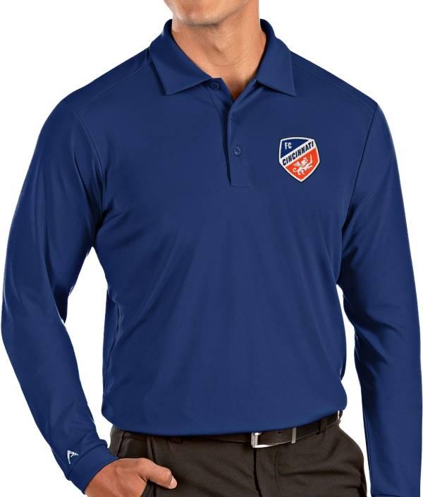 Antigua Men's FC Cincinnati Royal Tribute Long Sleeve Performance Polo product image