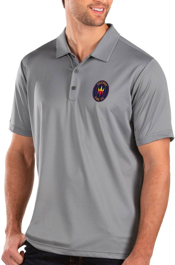 Antigua Men's Chicago Fire Grey Balance Polo product image