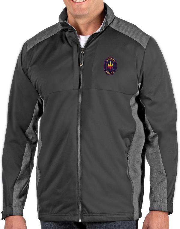 Antigua Men's Chicago Fire Grey Revolve Full-Zip Jacket product image