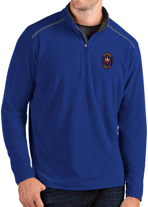 Antigua Men's Chicago Fire Red Glacier Quarter-Zip Pullover product image