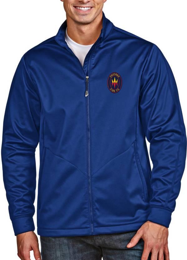 Antigua Men's Chicago Fire Navy Full-Zip Golf Jacket product image