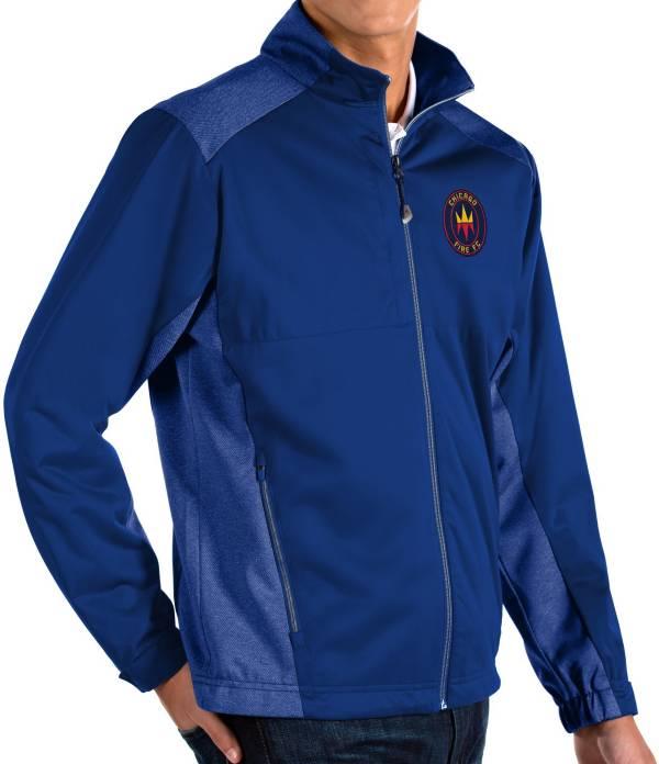 Antigua Men's Chicago Fire Navy Revolve Full-Zip Jacket product image