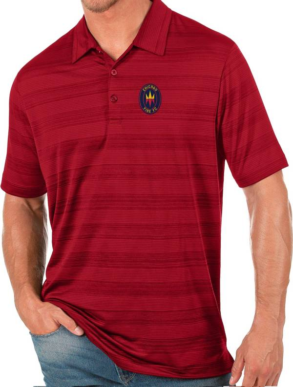 Antigua Men's Chicago Fire Red Compass Polo product image