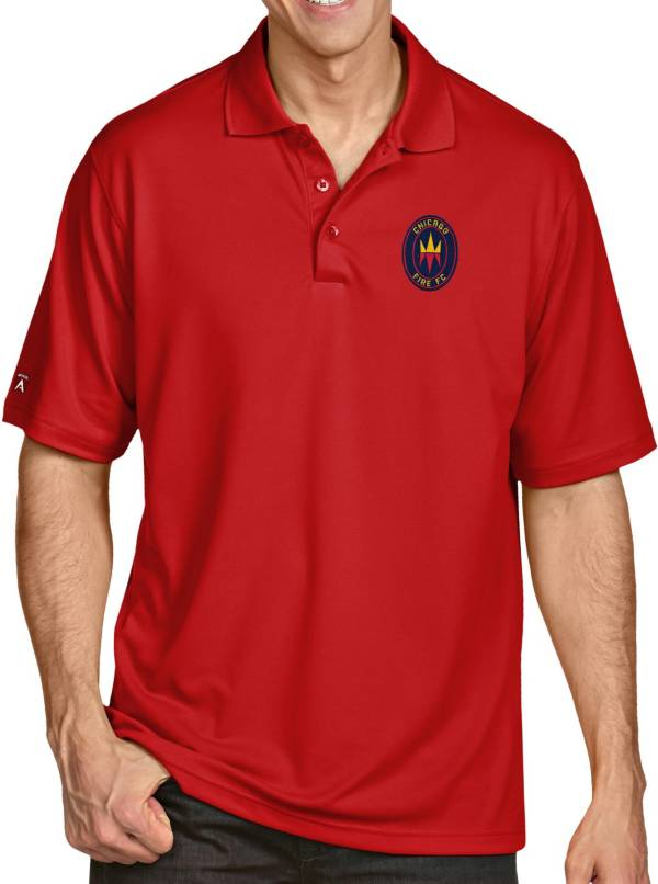 Antigua Men's Chicago Fire Red Pique Xtra-Lite Performance Polo product image