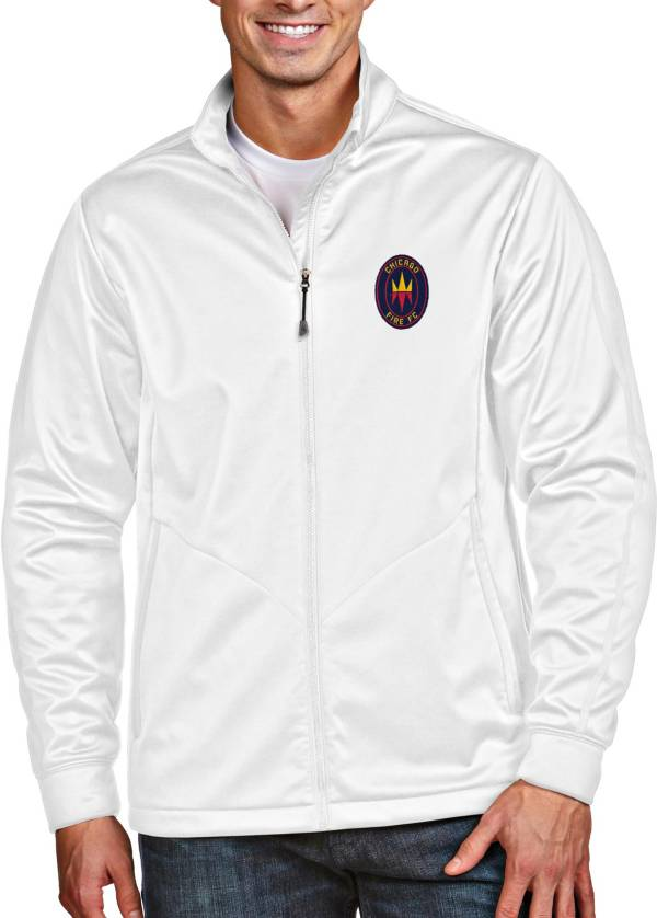 Antigua Men's Chicago Fire Full-Zip Golf White Jacket product image