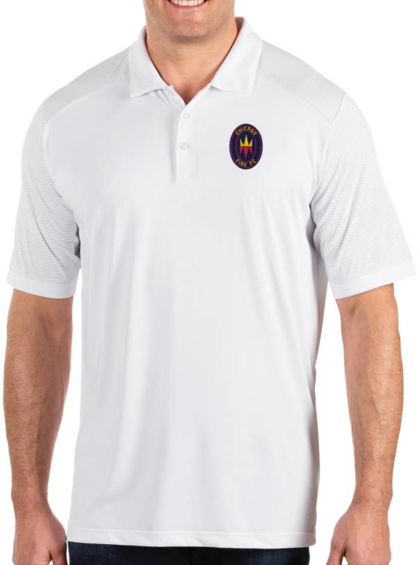 Antigua Men's Chicago Fire Engage White Polo product image
