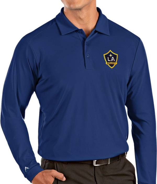 Antigua Men's Los Angeles Galaxy Royal Tribute Long Sleeve Performance Polo product image