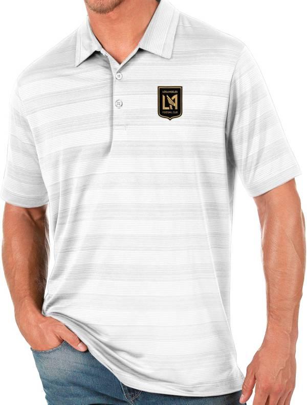 Antigua Men's Los Angeles FC White Compass Polo product image