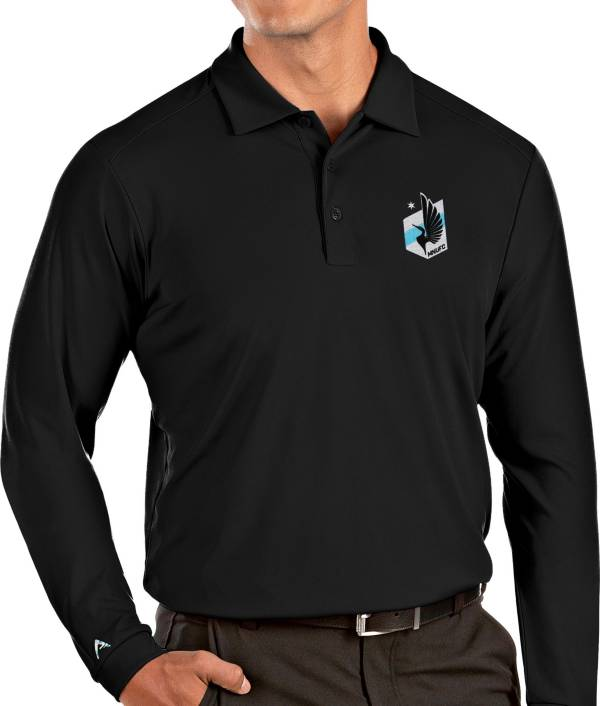 Antigua Men's Minnesota United FC Black Tribute Long Sleeve Performance Polo product image