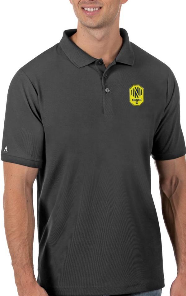 Antigua Men's Nashville SC Grey Legacy Pique Polo product image