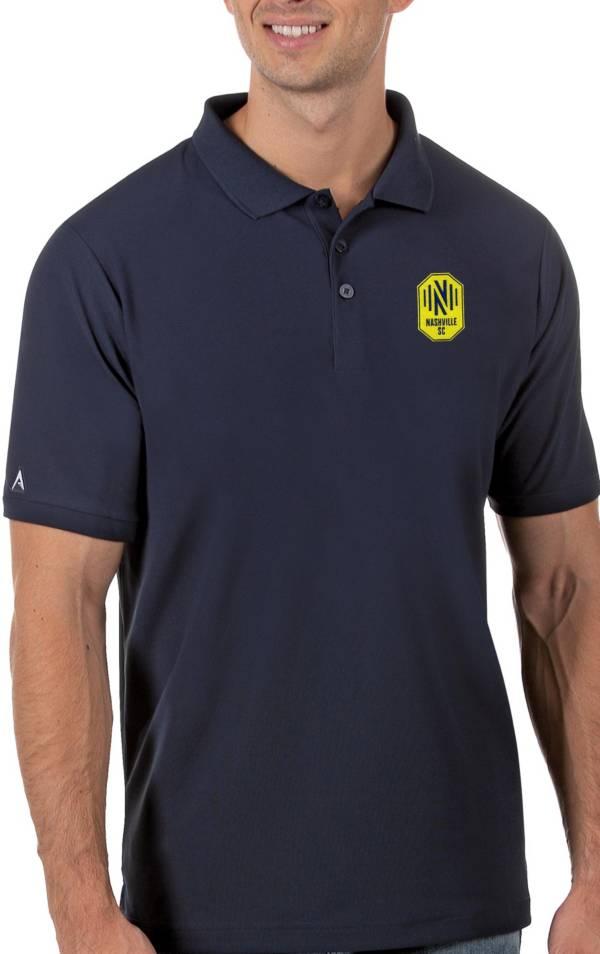 Antigua Men's Nashville SC Navy Legacy Pique Polo product image