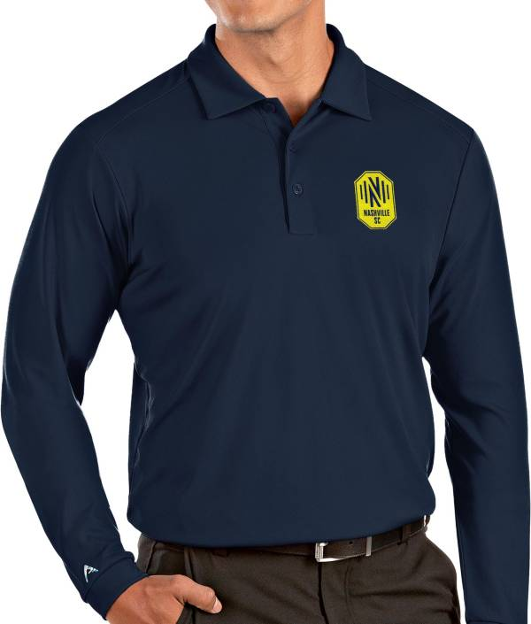 Antigua Men's Nashville SC Navy Tribute Long Sleeve Performance Polo product image
