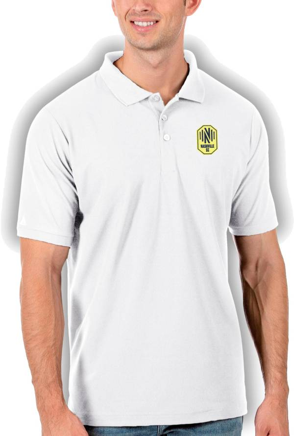 Antigua Men's Nashville SC White Legacy Pique Polo product image