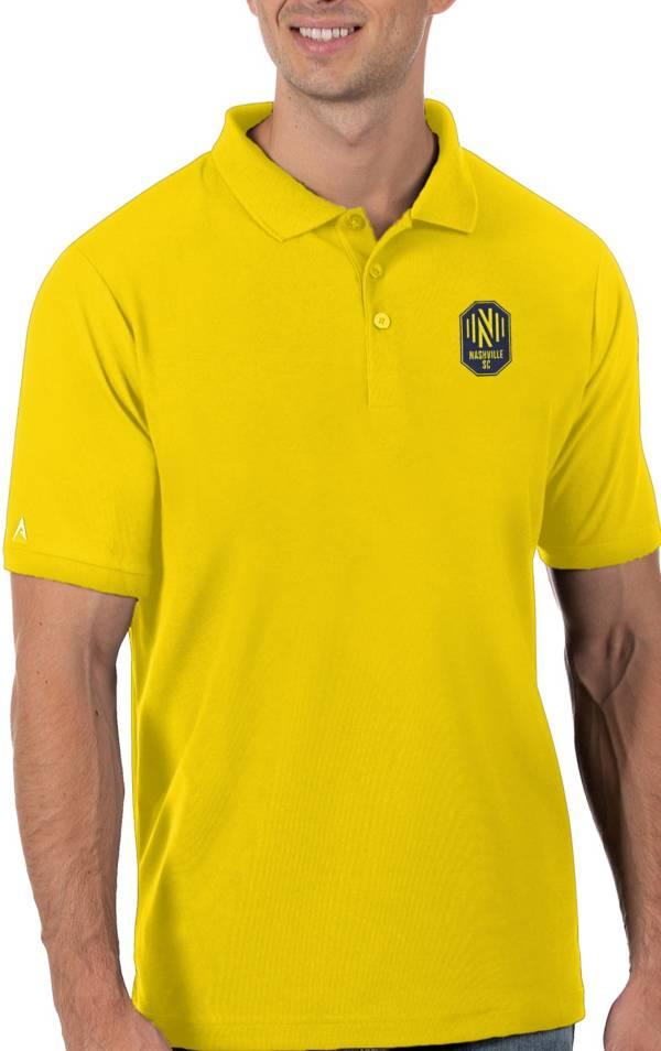 Antigua Men's Nashville SC Yellow Legacy Pique Polo product image