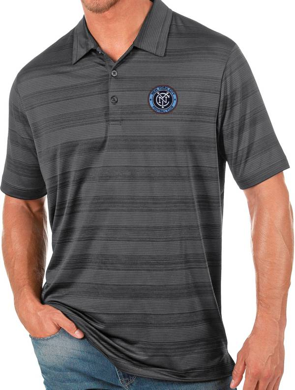 Antigua Men's New York City FC Gray Compass Polo product image