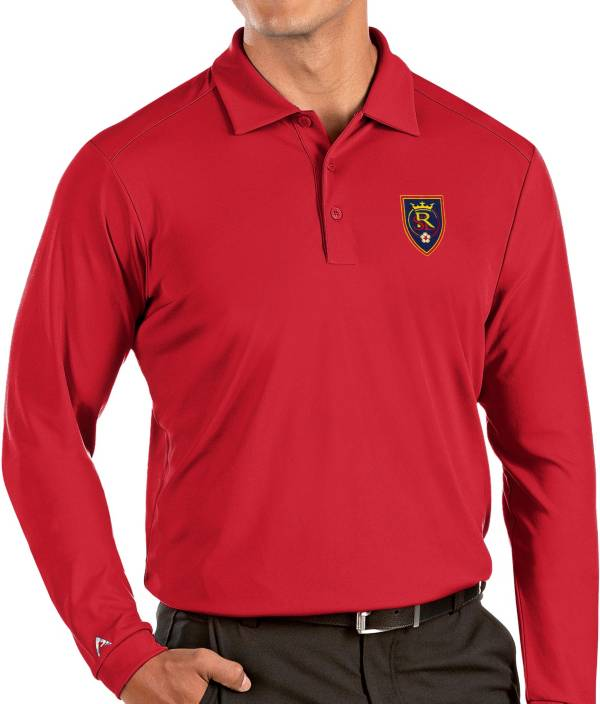 Antigua Men's Real Salt Lake Red Tribute Long Sleeve Performance Polo product image