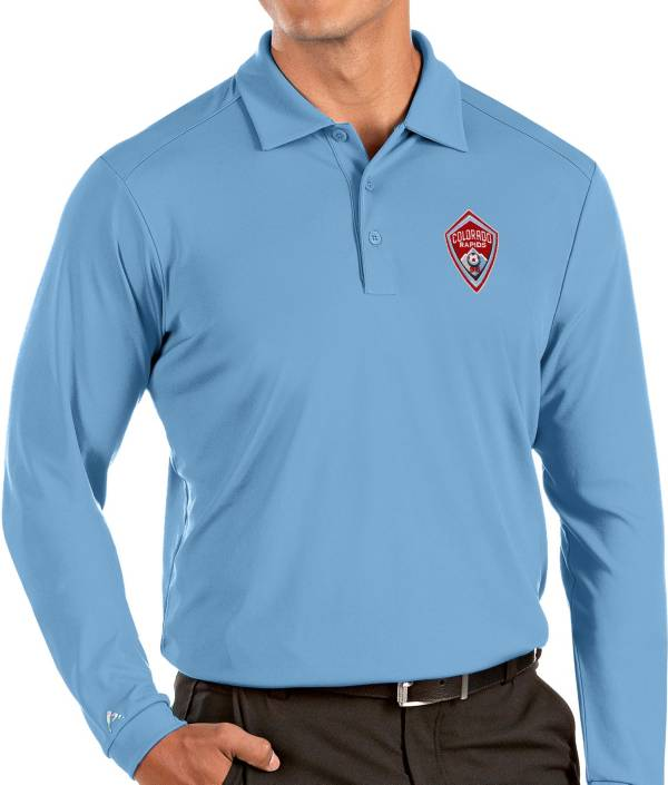Antigua Men's Colorado Rapids Blue Tribute Long Sleeve Performance Polo product image