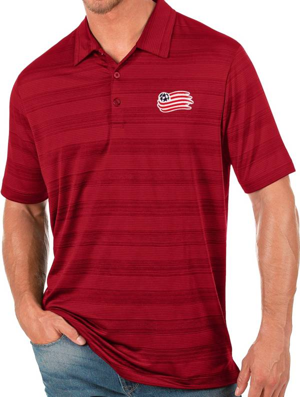 Antigua Men's New England Revolution Red Compass Polo product image