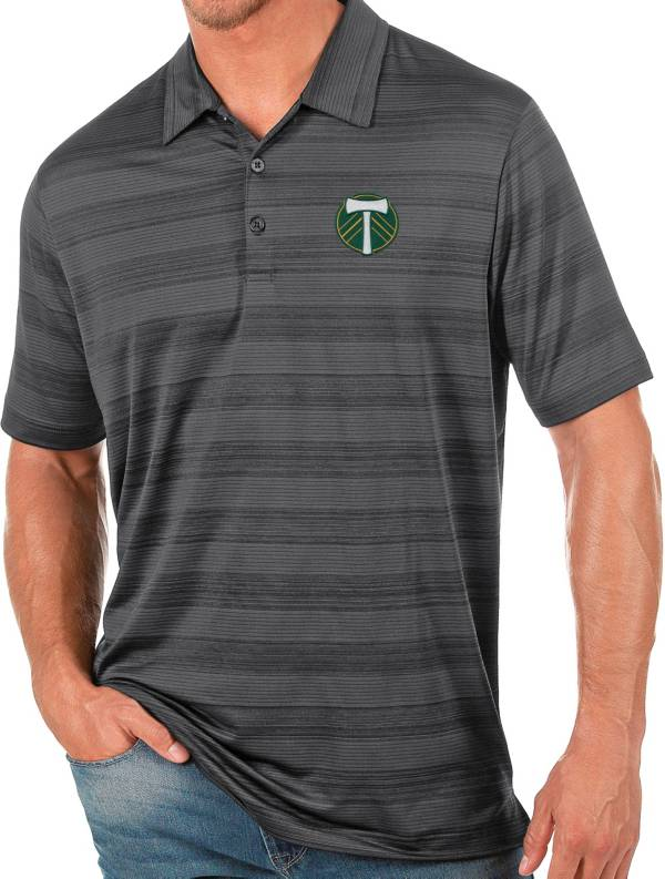 Antigua Men's Portland Timbers Gray Compass Polo product image