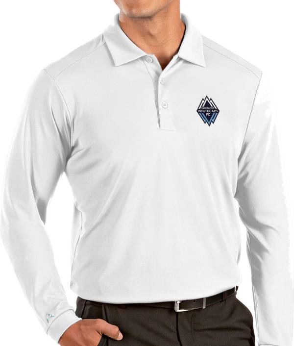 Antigua Men's Vancouver Whitecaps White Tribute Long Sleeve Performance Polo product image