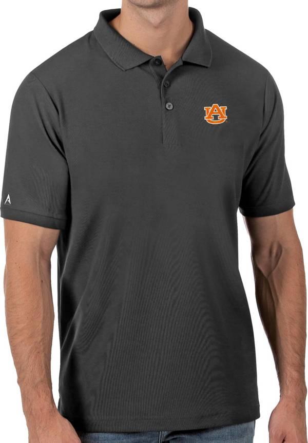 Antigua Men's Auburn Tigers Grey Legacy Pique Polo product image