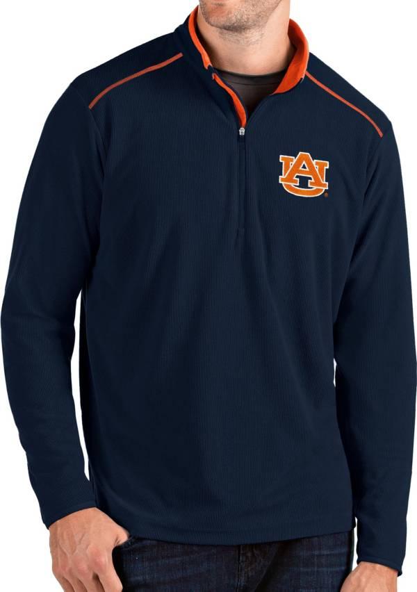Antigua Men's Auburn Tigers Blue Glacier Quarter-Zip Shirt product image