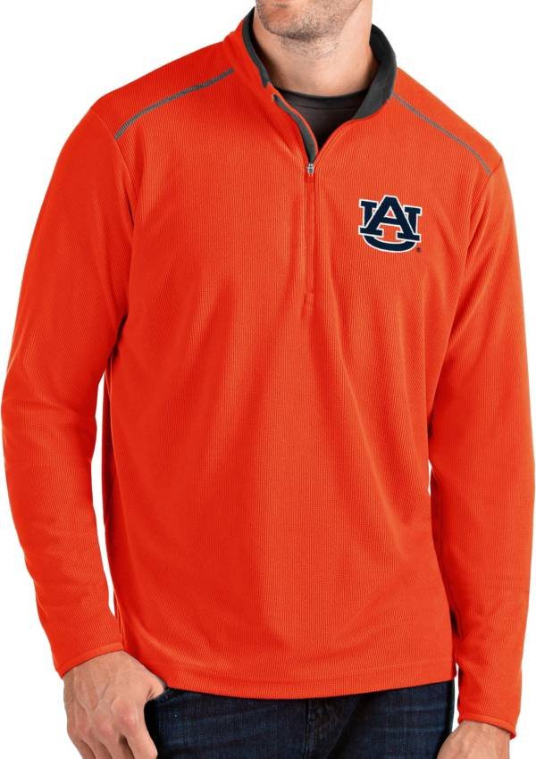 Antigua Men's Auburn Tigers Orange Glacier Quarter-Zip Shirt product image